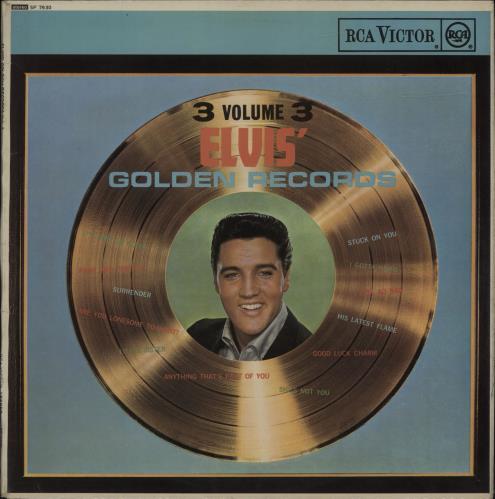Elvis Presley Elvis Golden Records Volume 3 - 2nd vinyl LP album (LP record) UK ELVLPEL662078