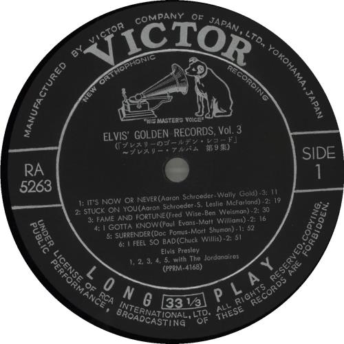 Elvis Presley Elvis' Golden Records, Vol. 3 vinyl LP album (LP record) Japanese ELVLPEL686390