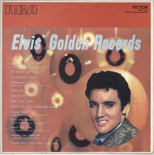 Elvis Presley Elvis Golden Records Italian Vinyl Lp Album