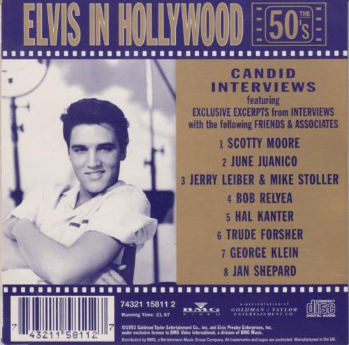 Elvis Presley Elvis In Hollywood - Candid Interviews CD album (CDLP) UK ELVCDEL209916