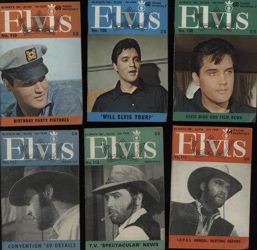 Elvis Presley Elvis Monthly - 10th Year - 12 Issues magazine UK ELVMAEL752678