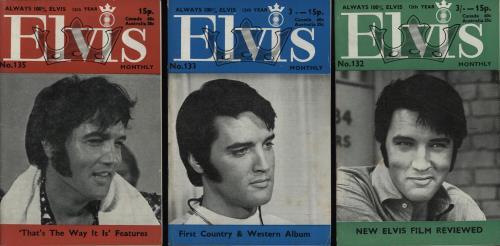 Elvis Presley Elvis Monthly - 12th Year - 9 Issues magazine UK ELVMAEL752682