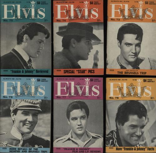 Elvis Presley Elvis Monthly - 7th Year - 12 Issues magazine UK ELVMAEL752674