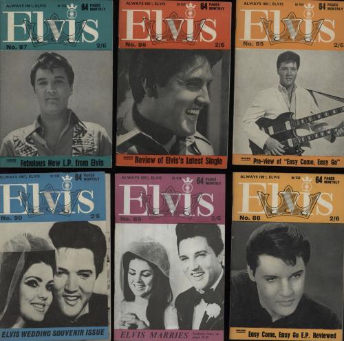 Elvis Presley Elvis Monthly - 8th Year - 12 Issues magazine UK ELVMAEL752676