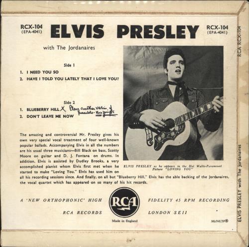"""Elvis Presley Elvis Presley E.P. - McN4/59 7"""" vinyl single (7 inch record) UK ELV07EL545808"""