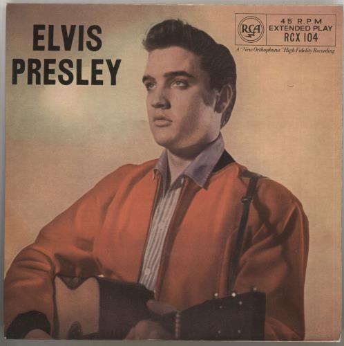 "Elvis Presley Elvis Presley EP - JU58/1 7"" vinyl single (7 inch record) UK ELV07EL723215"