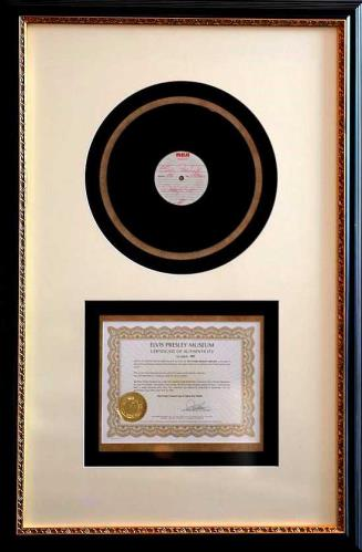 Elvis Presley Elvis Presley's Personal Acetate of Danny Boy memorabilia UK ELVMMEL710231