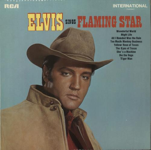 Elvis Presley Flaming Star vinyl LP album (LP record) UK ELVLPFL129072
