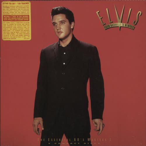Elvis Presley From Nashville To Memphis - 5CD + sticker CD Album Box Set UK ELVDXFR236702