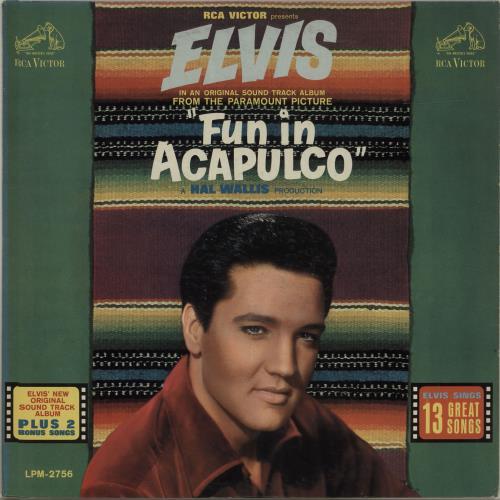 Elvis Presley Fun In Acapulco vinyl LP album (LP record) US ELVLPFU524702