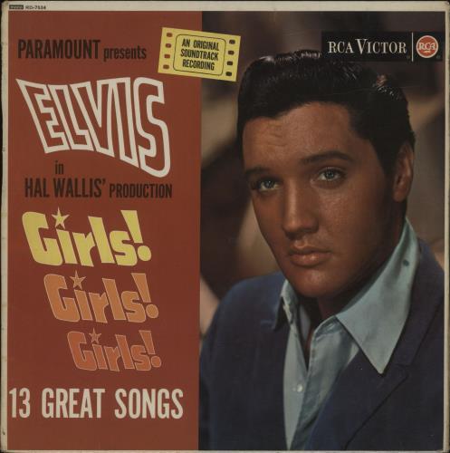 Elvis Presley Girls! Girls! Girls! - Silver Spot - VG vinyl LP album (LP record) UK ELVLPGI678643