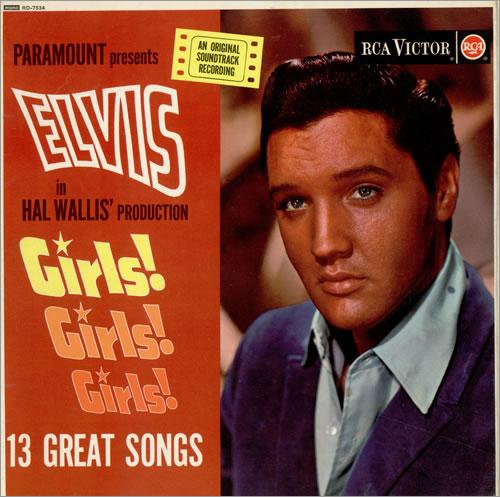 Elvis Presley Girls! Girls! Girls! - Silver Spot vinyl LP album (LP record) UK ELVLPGI119122