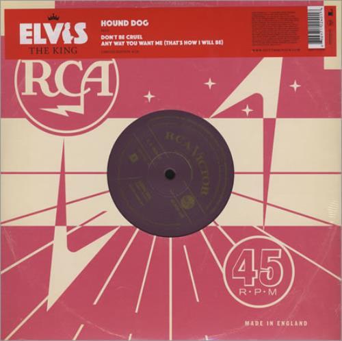 """Elvis Presley Hound Dog 10"""" vinyl single (10"""" record) UK ELV10HO410757"""