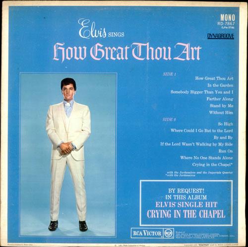 Elvis Presley How Great Thou Art Red Spot Uk Vinyl Lp