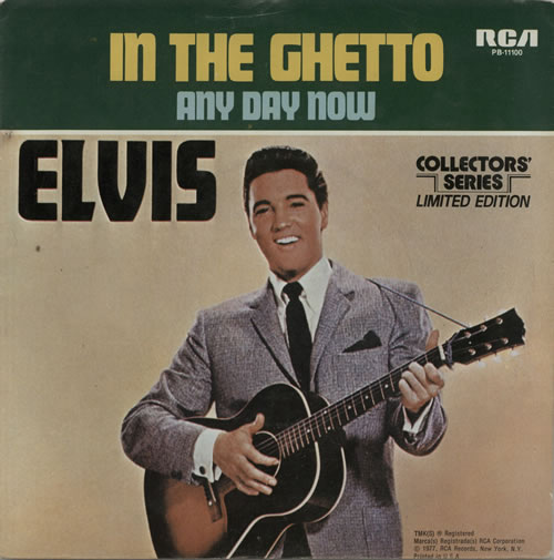 Image result for in the ghetto elvis presley single images
