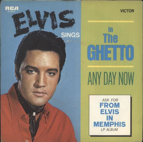 "Elvis Presley In The Ghetto 7"" vinyl single (7 inch record) German ELV07IN709166"