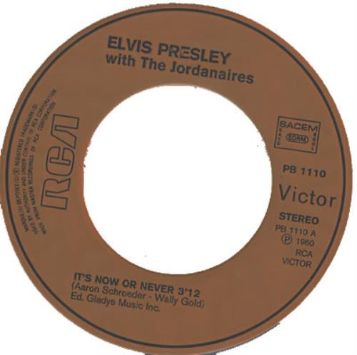 """Elvis Presley It's Now Or Never 7"""" vinyl single (7 inch record) French ELV07IT372362"""
