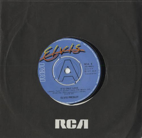 "Elvis Presley It's Only Love 7"" vinyl single (7 inch record) UK ELV07IT564974"