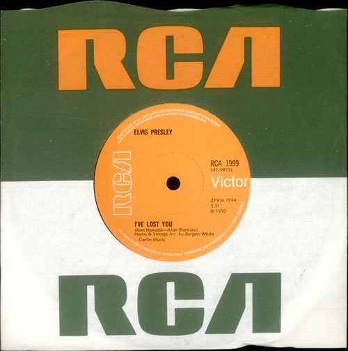"Elvis Presley I've Lost You - Solid 7"" vinyl single (7 inch record) UK ELV07IV518113"