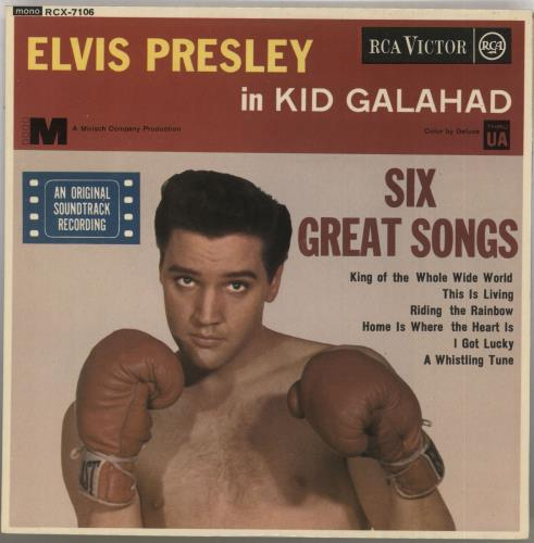 "Elvis Presley Kid Galahad EP - 1st 7"" vinyl single (7 inch record) UK ELV07KI567712"