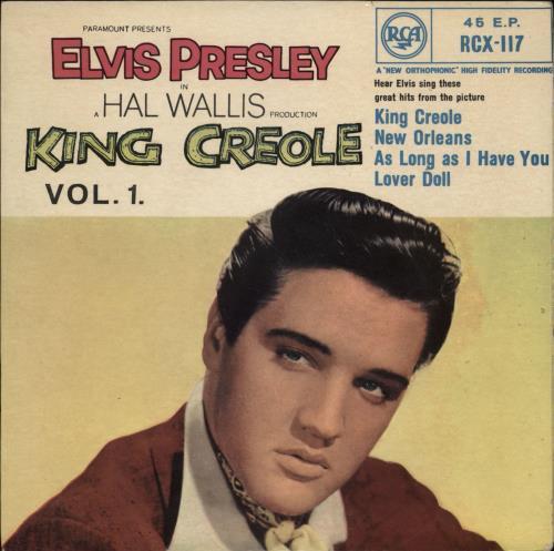 "Elvis Presley King Creole Vol.1 EP - 1st - SF58/10 Sleeve 7"" vinyl single (7 inch record) UK ELV07KI766400"