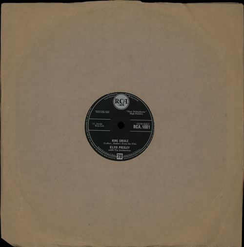 Elvis Presley King Creole 78rpm shellac record UK ELV78KI567714