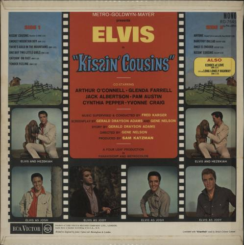 Elvis Presley Kissin Cousins - Red Spot vinyl LP album (LP record) UK ELVLPKI240538