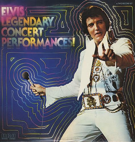Elvis Presley Legendary Concert Performances 2-LP vinyl record set (Double Album) US ELV2LLE210058