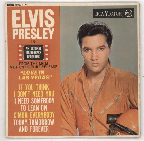 """Elvis Presley Love In Las Vegas E.P. - Silver Spot 7"""" vinyl single (7 inch record) UK ELV07LO93286"""