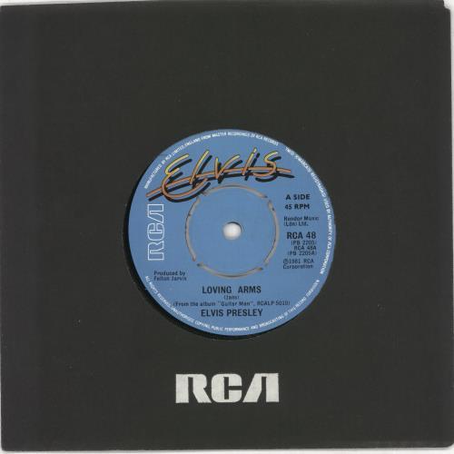"Elvis Presley Loving Arms 7"" vinyl single (7 inch record) UK ELV07LO686847"