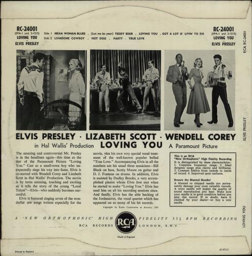 "Elvis Presley Loving You - 2nd 10"" vinyl single (10"" record) UK ELV10LO671778"