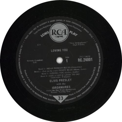 """Elvis Presley Loving You - 4th 10"""" vinyl single (10"""" record) UK ELV10LO733082"""