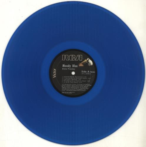 Elvis Presley Moody Blue Blue Vinyl Stickered Sleeve