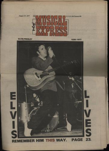 Elvis Presley New Musical Express magazine UK ELVMANE752609