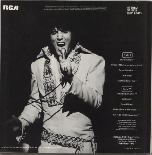 Elvis Presley On Stage + poster vinyl LP album (LP record) UK ELVLPON190733