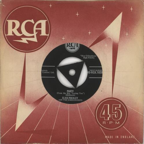 "Elvis Presley Party - 1st - VG/EX 7"" vinyl single (7 inch record) UK ELV07PA739620"