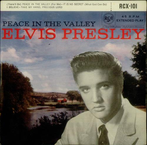 "Elvis Presley Peace In The Valley - 5th - 9/59 7"" vinyl single (7 inch record) UK ELV07PE545807"