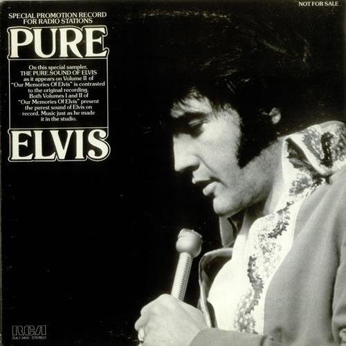 Elvis Presley Pure Elvis vinyl LP album (LP record) US ELVLPPU541270