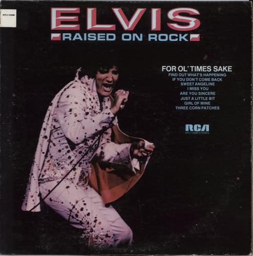 Elvis Presley Raised On Rock / For Ol' Times Sake vinyl LP album (LP record) US ELVLPRA211382