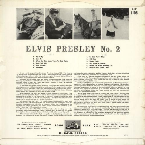 Elvis Presley Rock 'n' Roll No. 2 - VG vinyl LP album (LP record) UK ELVLPRO612365