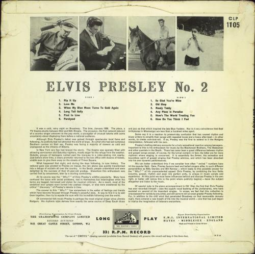 Elvis Presley Rock 'n' Roll No. 2 - Wrecked But Rare vinyl LP album (LP record) UK ELVLPRO613200