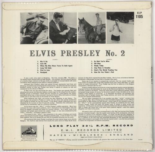 Elvis Presley Rock 'n' Roll No. 2 vinyl LP album (LP record) UK ELVLPRO365847