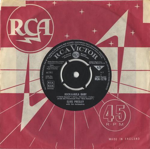 "Elvis Presley Rock-A-Hula Baby - RCA Victor Round 7"" vinyl single (7 inch record) UK ELV07RO212287"
