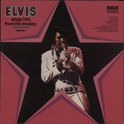 Elvis Presley Sings Hits From His Movies Volume 1 vinyl LP album (LP record) US ELVLPSI757318