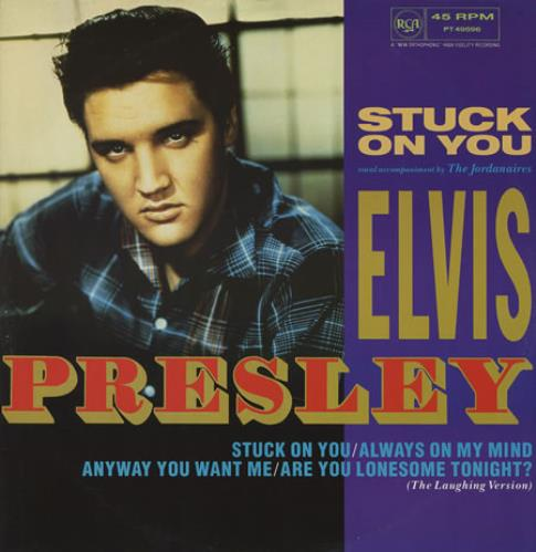 "Elvis Presley Stuck On You 12"" vinyl single (12 inch record / Maxi-single) UK ELV12ST119121"