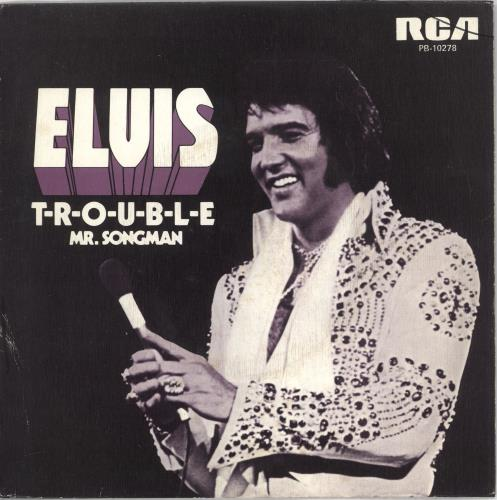 "Elvis Presley T-R-O-U-B-L-E 7"" vinyl single (7 inch record) Spanish ELV07TR723193"