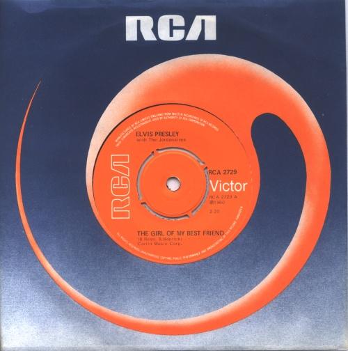 "Elvis Presley The Girl Of My Best Friend 7"" vinyl single (7 inch record) UK ELV07TH242456"