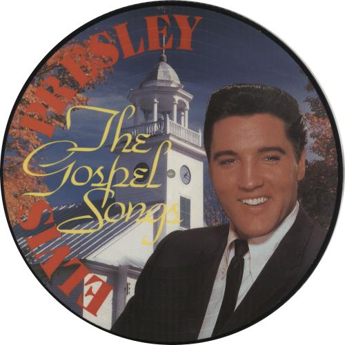 Elvis Presley The Gospel Songs picture disc LP (vinyl picture disc album) Danish ELVPDTH719387
