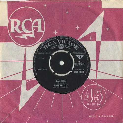 "Elvis Presley U.S. Male 7"" vinyl single (7 inch record) UK ELV07US138559"