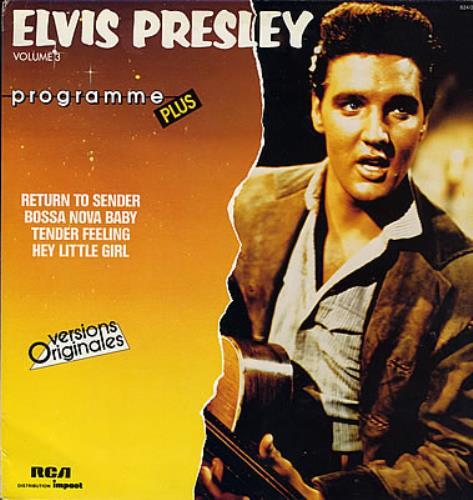 Elvis Presley Volume 3 vinyl LP album (LP record) French ELVLPVO373099